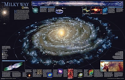 National Geographic Maps The Milky Way Poster Map; Standard (20'' x 31'') WYF078279848508
