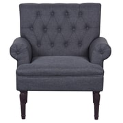 Container Upholstered Arm Chair; Dark Gray
