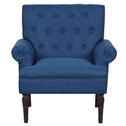 Container Upholstered Arm Chair; Ocean Blue
