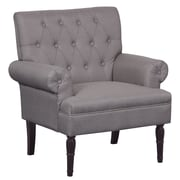 Container Upholstered Arm Chair; Light Brown