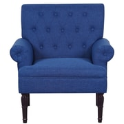 Container Upholstered Arm Chair; Navy Blue
