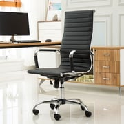 Roundhill Furniture Panoton Contemporary High-Back Office Desk Chair; Black