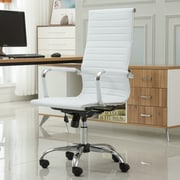 Roundhill Furniture Panoton Contemporary High-Back Office Desk Chair; White