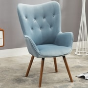 Roundhill Furniture Doarnin Arm chair; Blue