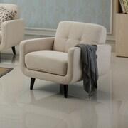 Roundhill Furniture Modibella Club Chair; Tan