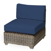 TK Classics Cape Cod Armless Chair w/ Cushions; Navy