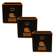 My Owners Box NFL Fabric Storage Bin (Set of 3); Cleveland Browns