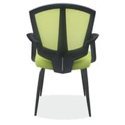 OfficeSource Sprint Side Chair w/ Arms; Green