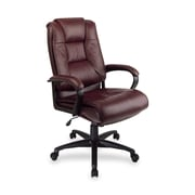 OSP Furniture High-Back Leather Executive Chair; Burgundy
