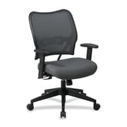 OSP Furniture Mid-Back Mesh Desk Chair; Charcoal Gray