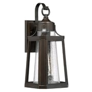 Laurel Foundry Modern Farmhouse Chisholm Palladian Bronze Single 1 Light Outdoor Wall Lantern