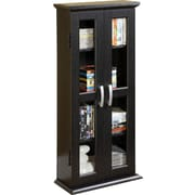Home Loft Concepts DVD Multimedia Cabinet; Textured Black