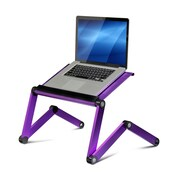 Wildon Home   Vented Laptop Table / Portable Bed Tray Book Stand; Purple