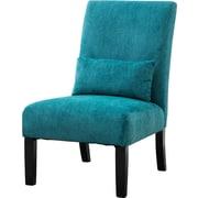 Roundhill Furniture Pisano Slipper Chair; Teal