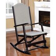 Wildon Home   Cedar Creek Solid Wood Folding Rocking Chair; Espresso