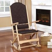 Wildon Home   Cedar Creek Solid Wood Folding Rocking Chair; Natural