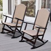 Wildon Home   Cedar Creek Solid Wood Folding Rocking Chairs (Set of 2); Espresso