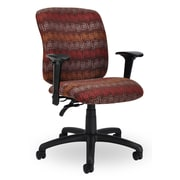 Seating Inc EDU2 Mid-Back Desk Chair; Burgundy
