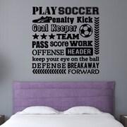 Enchantingly Elegant Play Soccer Sports Wall Decal; 16'' H x 16'' W x 1'' D