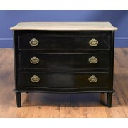 AA Importing 3 Drawer Chest; Black