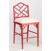 AA Importing 27'' Bar Stool; Red