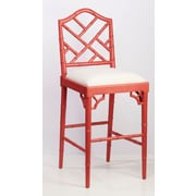 AA Importing 31'' Bar Stool; Red