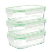 Kinetic Go Green Glassworks 3-Piece Food Storage Container Set (Set of 3)