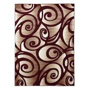 DonnieAnn Company Sculpture Abstract Swirl Burgundy Area Rug