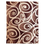 DonnieAnn Company Sculpture Abstract Swirl Champagne Area Rug