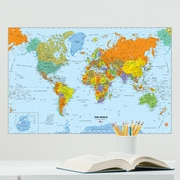 WallPops! World Dry Erase Map Wall Decal