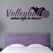 Enchantingly Elegant Volleyball What Else Is There Sports Wall Decal; 12'' H x 35'' W x 1'' D