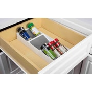 Home Basics 3-Section Drawer Cabinet Spice Rack