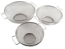 Home Basics 3 Piece Stainless Steel Mesh Strainer Set WYF078279478986