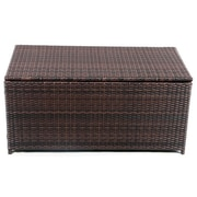 Vandue Corporation Modern Home Wicker Cove Weatherproof Outdoor Rattan Storage Box
