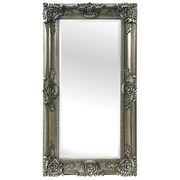 Selections by Chaumont Mayfair Beveled Rectangle Mirror; Antique Silver Finish