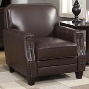 AC Pacific Calanthe Full Grain Leather Club Chair; Brown