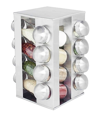 Home Basics Revolving 16-Jar Spice Rack
