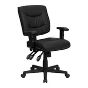 Offex Mid-Back Leather Desk Chair; Included
