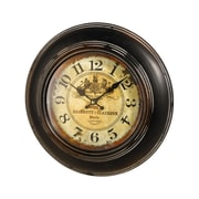 PierSurplus 13.25 Inches Reproduction Metal and Glass Wall Clock