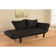 Kodiak Furniture Spacely Convertible Lounger Futon and Mattress; Black