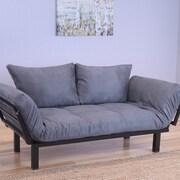 Kodiak Furniture Spacely Convertible Lounger Futon and Mattress; Gray