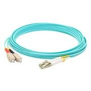 AddOn® SC to LC Male/Male Duplex Multi-Mode Fiber Optic Network Patch Cable, 6.6', Aqua (ADD-SC-LC-2M5OM3)