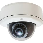 LevelOne® FCS-3082 Wired Fixed Dome Network Camera, Nightvision, White/Black