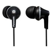 Panasonic RP-HJE125-K ErgoFit Wired In-Ear Earbud Stereo Headphone, Black