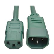 Tripp Lite 2' IEC-320-C13 to IEC-320-C14 Female/Male Heavy-Duty Power Extension Cord, Green (P005-002-AGN)