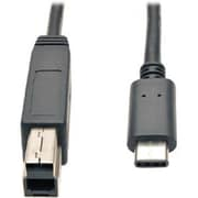 Tripp Lite USB Type-C to USB 3.0 Type-B Male/Male Data Transfer Cable, 3', Black (U422-003-G2)