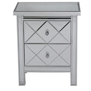 Heather Ann 2 Drawer Chest; Silver