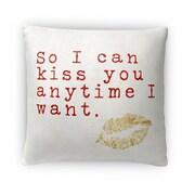 Kavka So I Can Kiss You Whenever I Want Micro Fiber Fleece Throw Pillow; 16'' H x 16'' W