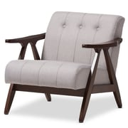Wholesale Interiors Enrico Mid-Century Modern Wood Fabric Lounge Chair