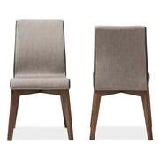 Wholesale Interiors Baxton Studio Mona Mid-Century Modern Fabric Side Chair (Set of 2)